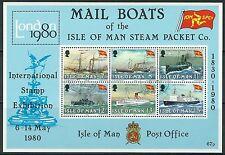 Isle of Man - 150 Jahre Steam Packet Company Block 3 gestempelt 1980 Mi. 166-171