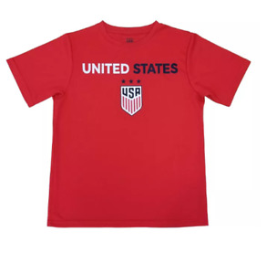 FIFA U.S.Soccer 2019 World Cup Boys' Performance T-Shirt - Red - C356