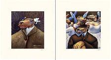 "Markus Pierson ""Art History Coyote Portraits of Degas and Van Gogh"" 2 Serigraphs"