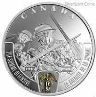 2016 BATTLEFRONT SERIES THE SOMME Gilded 1oz Silver Proof Coin