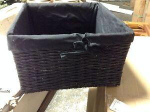 1 Jute Seagrass Woven Storage Home Decor Square Basket Liner Black LARGE 14x8.5