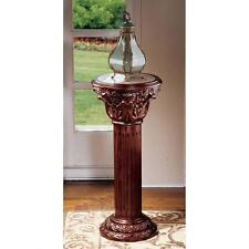 """AE 1180 Imperia Inlaid Marble Pedestal Display Stand -Large 36.5"""""""