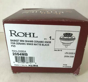 Rohl 2054MB MINI BASKET STRAINER DRAIN IN MATTE BLACK FOR SINKS OR BASINS