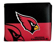 NFL Arizona Cardinals Men's Printed Logo Leather Bi-Fold Wallet