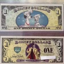Disney DOLLARS 2013 VILLAINS & HEROS $1.00  CRUELLA ERROR