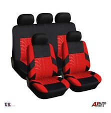 FULL SEAT COVERS SET PROTECTORS RED FOR FORD FIESTA FOCUS MONDEO B-MAX KA