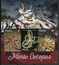 Palau 2019 MNH Mimic Octopus 3v M/S II Molluscs Marine Animals Stamps