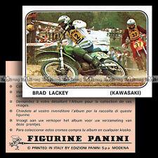 #pnms79.207 ★ Pilote BRAD LACKEY (KAWASAKI) Moto Cross ★ Panini Moto Sport 79