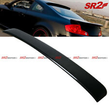 Rear Carbon Fiber Rear Window Visor Guard Roof Spoiler Wing fits 03-07 G35 Coupe