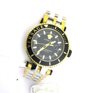 Versace VAK040016 V-Race Diver Stainless Link Band Swiss Quartz Analog Watch