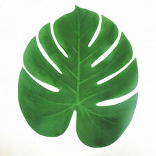12x Artificial Tropical Palm Leaves for Luau Party Beach Theme Decorations