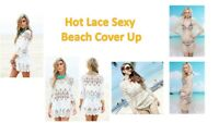 Hot Lace Women Sexy Beach hollow Bikini Cover Up Summer Kaftan Dress Seaside Hot