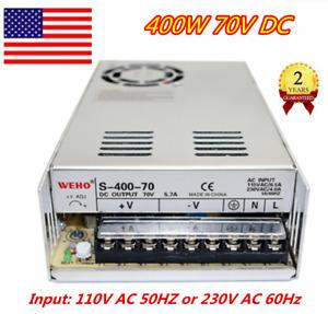 『US』 400W 70V DC Switch Power Supply Transformer 110V for LCD,LED light/CCTV/CNC