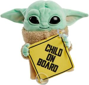 Star Wars The Mandalorian Grogu Baby Yoda The Child On Board Plush Hanging Sign
