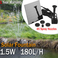 Solar Power Fountain Water Pump Kit Panel Pond Pool Submersible Outdoor Garden