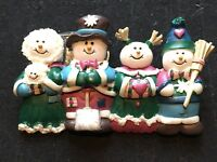 House of Lloyd Snowman Brooch Christmas Around the World 2001