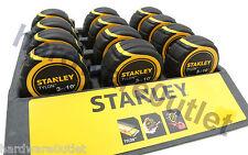 Qty 12 STANLEY TYLON 3M (10FT) TAPE MEASURE 30-686