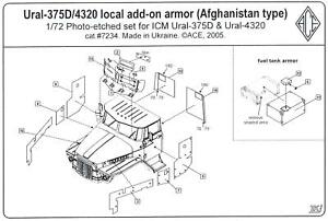 Ace Models 1/72 URAL-375D/4320 LOCAL AD-ON ARMOR (Afghanistan) Photo Etch Set