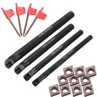 4 Set Of 7/8/10/12Mm Sclcr Lathe Boring Bar Tool Holder+10Pcs Ccmt 0602 Ins F9U9