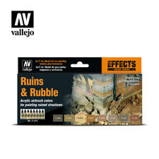 AIRBRUSH PAINTS - VALLEJO MODEL AIR - RUINS & RUBBLE (8 x 17ML) - 71214