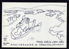 """TAAF Antarctique Carte P.E. Victor Neuve """"30e ann. débarquemen"""" Scan recto verso"""