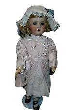 "24"" 1909 German Schoenau & Hoffmeister Doll With Sleep Eyes & Open Mouth"