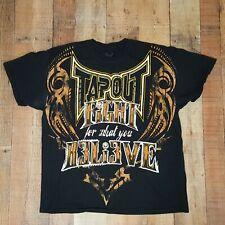 Tapout MMA Men's T-Shirt Size XL Black P22