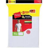 Men's ComfortSoft White Crew Neck T-Shirt 6 + 3 Free Bonus Pack Size S/P (30E)