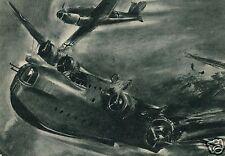 3786/ Künstler AK, Flugboot Sunderland wird abgeschoßen