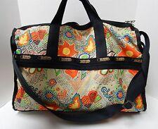 Le Sportsac Weekender Nylon Floral Chic Duffle Travel Crossbody Bag