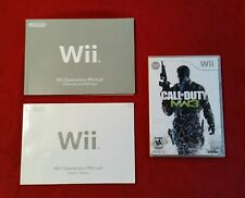 Call of Duty Modern Warfare 3 Wii Game & 2 Nintendo Wii Manuals - 3 Pieces