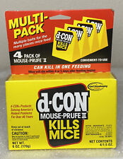 d-CON Mouse Prufe II Kills Mice!!! NEW ~ Box of 4 (1.5 oz ea) Cant be sold to CA