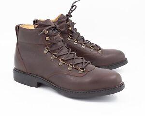 Hobo HikerJoe Wander Stiefelette Herren braun Leder Boots Schnürstiefel 43