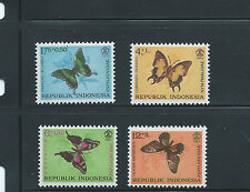 INDONESIA SEMI POSTAL STAMPS MNH SC 156-9 BUTTERFLIES