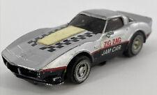SLOT CAR TCR ZIG ZAG JAM CAR IDEAL CORVETTE 1979 GLOW