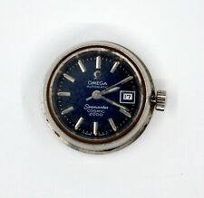 OMEGA SEAMASTER COSMIC 2000 BLUE DIAL LADIES AUTOMATIC WATCH