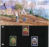 JERSEY PRESENTATION PACK 1980 JERSEY ROYAL POTATO MNH SG 230-232