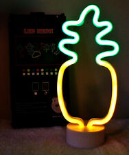 Pineapple Neon Led Light Sign with Base Night Light Party or Bar Room Decor