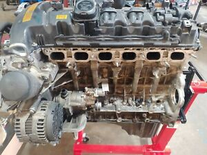 2007 BMW 535i Longblock Engine Motor Core Around 100k Miles Bent Valves
