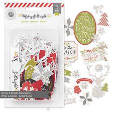 Pink Paislee Merry & Bright - Die Cuts Christmas Ephemera w Glitter