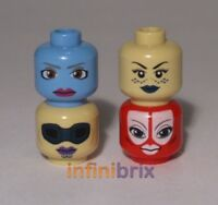 4x Lego Female Star Wars Jedi Alien Heads, Aayla Secura, Shaak-Ti NEW lot206