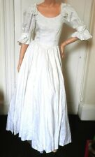 "Vintage 80's Laura Ashley Princess Diana Wedding Dress:Ivory:32"" Bust:Excellent"