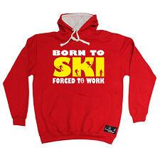 Born To Ski Powder Monkeez Hoodie hoody birthday gift clothing skiing skier