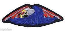 Grand patch brodé USA FEATHER EAGLE - Style BIKER HARLEY