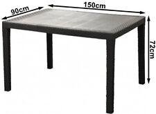 Gartentisch Terrassentisch Esstisch 150 x 90 cm Kunststoff Tisch Rattan Look XXL