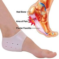 Protective Silicone PLANTAR FASCIITIS Heel Spur Ankle Gel Support Pain Relief