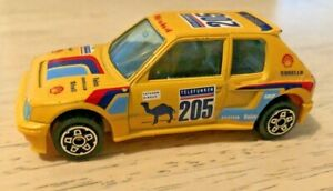 Telefunken PEUGEOT 205 Turbo 16 Toy Car - BBURAGO - Made in Italy - 1/43