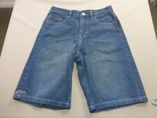 087 BOYS EX-COND BILLABONG LOOSE LEG BLUE DENIM SHORTS 14 $70 RRP.