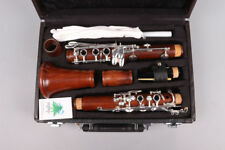 Yinfente Professional Clarinet Rosewood Bb 17 Keys Silver plated With Case Parts