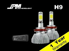 32W 2200LM  H9 LED 6000K Headlight Kit White Power High Low Fog Light Beam Bulbs